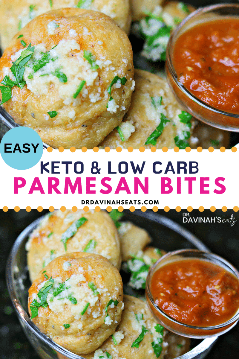 Pinterest Image for Keto Garlic Parmesan Bites