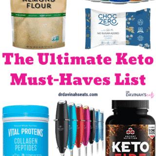 Keto Must-Haves Essentials List Pinterest image