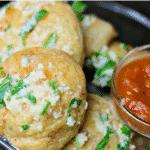 Pinterest Image for Keto Garlic Parmesan Bread Bites