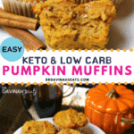Pinterest image for Keto Pumpkin Muffins