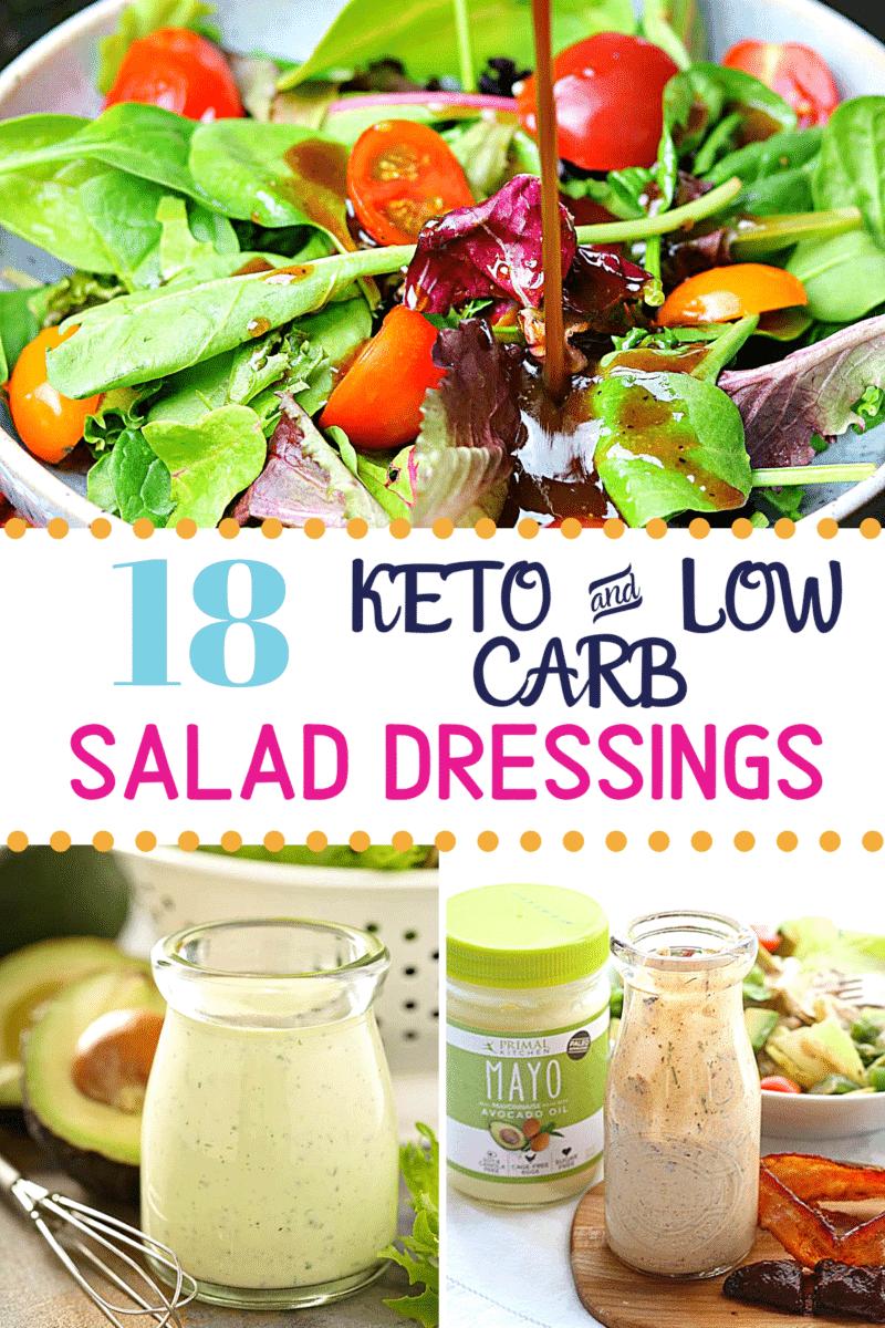 Pinterest image for Keto Salad Dressings