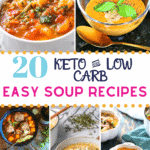 Pinterest image for Keto Soup Recipes