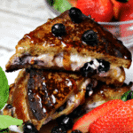 Pinterest image for Low Carb Stuffed French Toast