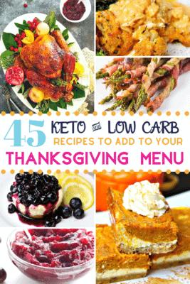 Pinterest image for Keto Thanksgiving Dinner