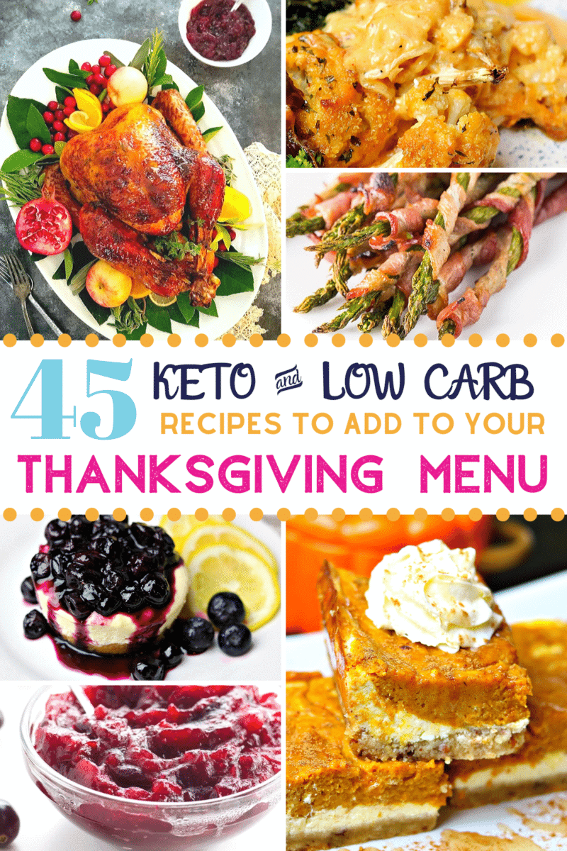 Pinterest image for Keto Thanksgiving Dinner