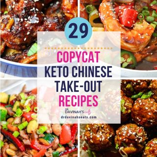 pinterest image that says 24 copycat keto Chinese take-out recipes
