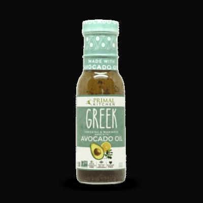 A bottle of Primal Kitchen Green Vinaigrette with Avocado oil