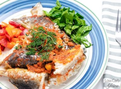 Spicy Oven Baked Catfish on a plate