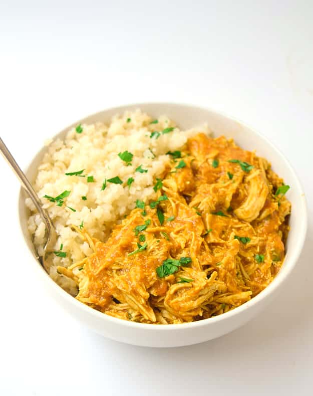 Instant Pot cooked chicken in bowl