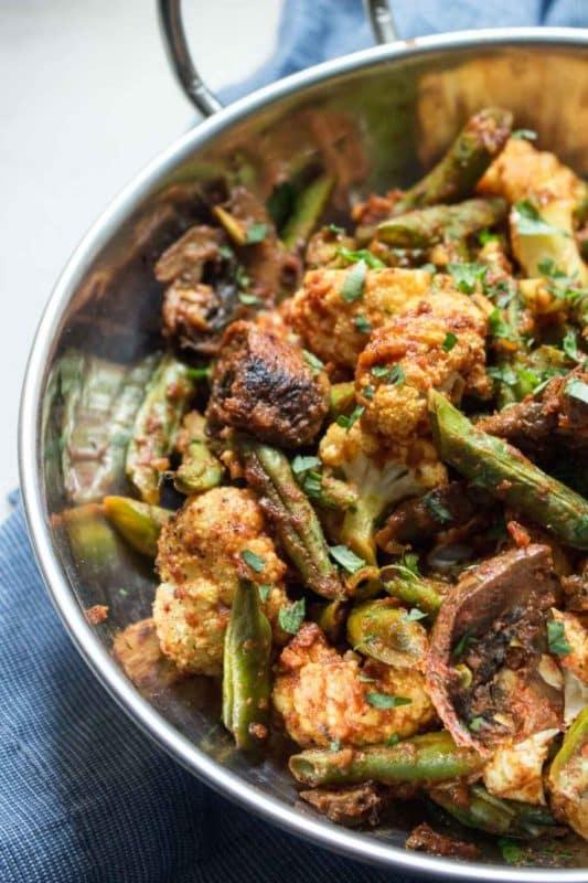 Indian roasted vegetables