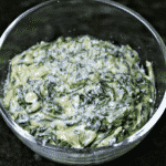 Keto Creamed Spinach Recipe in a bowl