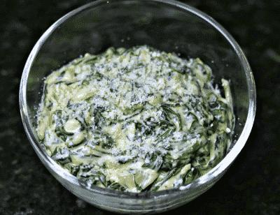 Keto Creamed Spinach Recipe in a bowl