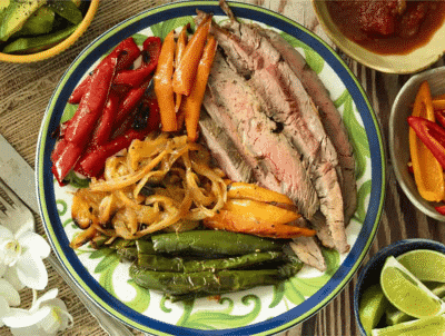 FLANK STEAK FAJITAS - a low carb steak recipe and dinner idea
