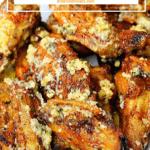Garlic Parmesan Wings Pinterest image