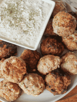 Keto Greek Meatballs