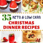 Keto Christmas Dinner Pinterest image