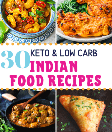 Pinterest image for Keto Indian food