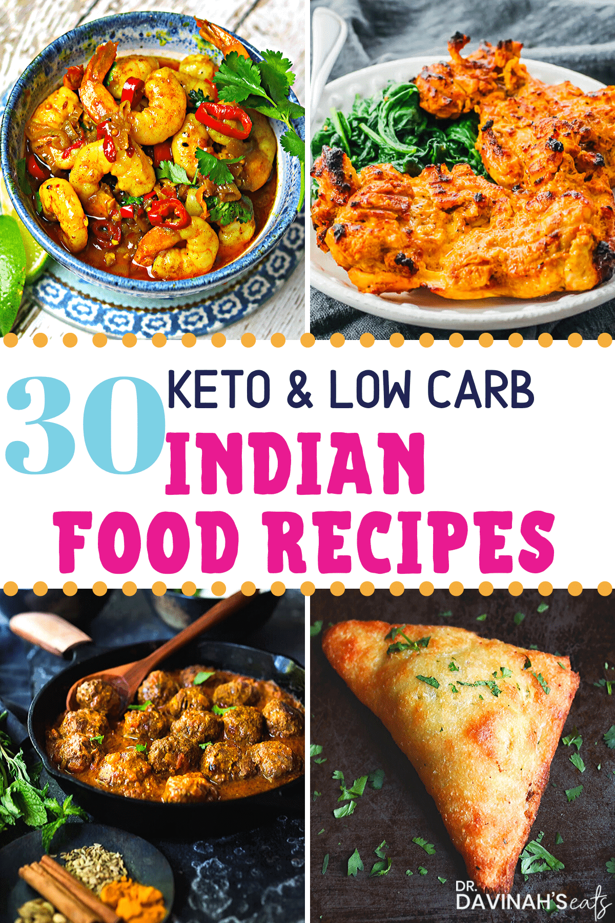 Pinterest image for Keto Indian food