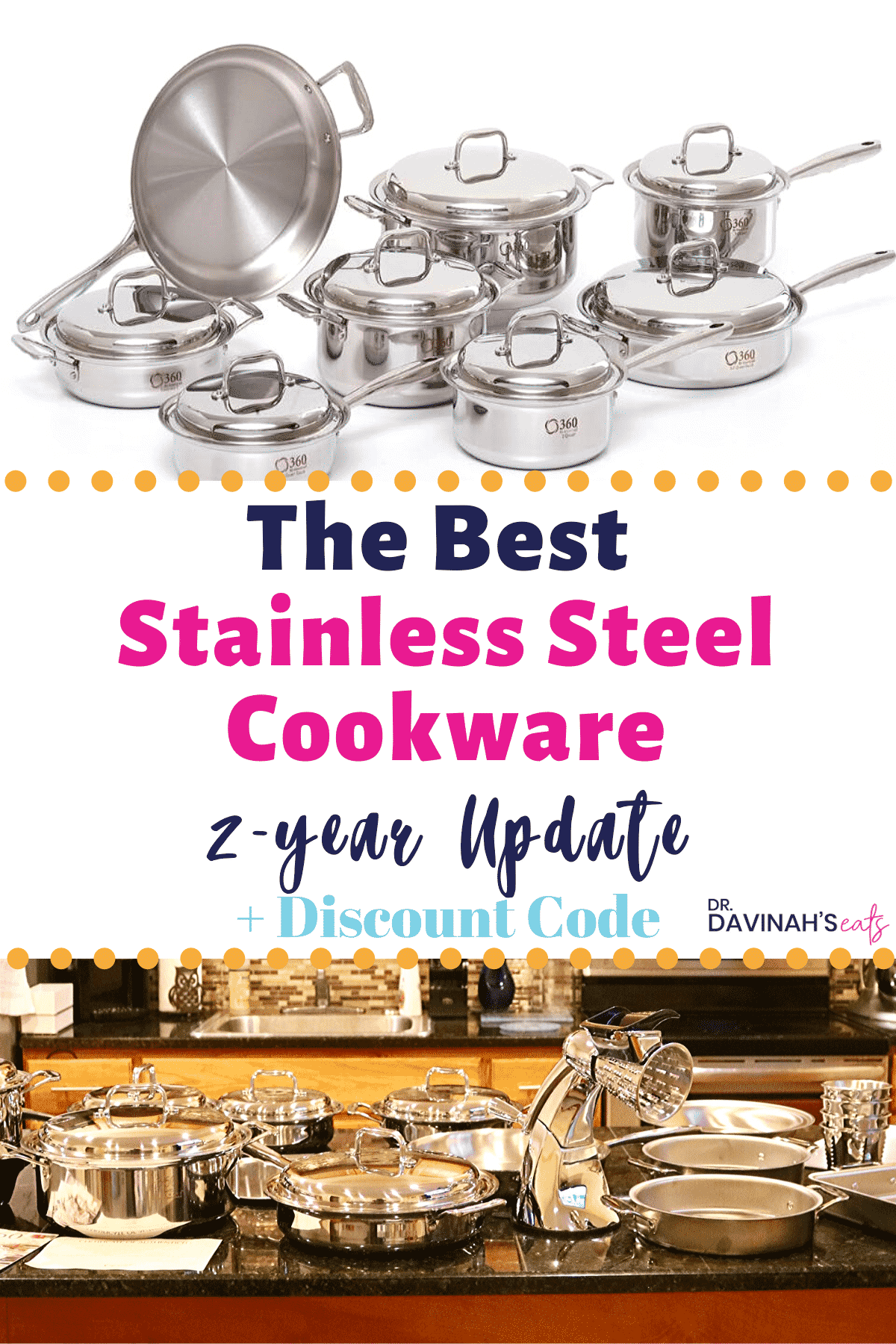 Pinterest image for 360 Stainless Steel Cookware