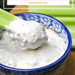 Pinterest image for Blue Cheese Dressing Recipe