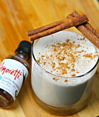Keto Coquito recipe in a glass