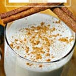 Pinterest image for Keto Spanish Eggnog Recipe