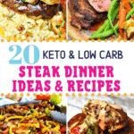 Pinterest image for Keto Steak Dinner Recipes