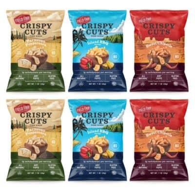 6 assorted bags of Crispy Cuts pork rinds