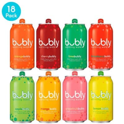 8 cans of bubly Sparkling Water