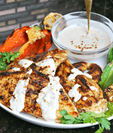 Cast Iron Grilled Chicken on a plate