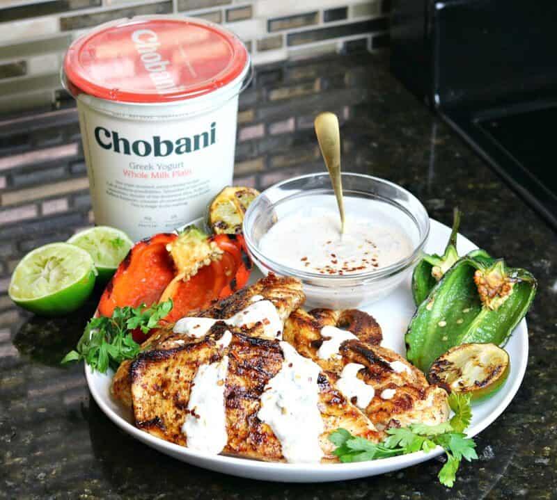 Cast Iron Chicken with Chobani Greek Yogurt
