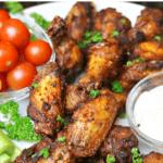 Pinterest image for dry rub chicken
