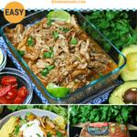Pinterest image for Keto Carnitas Slow Cooker Roast