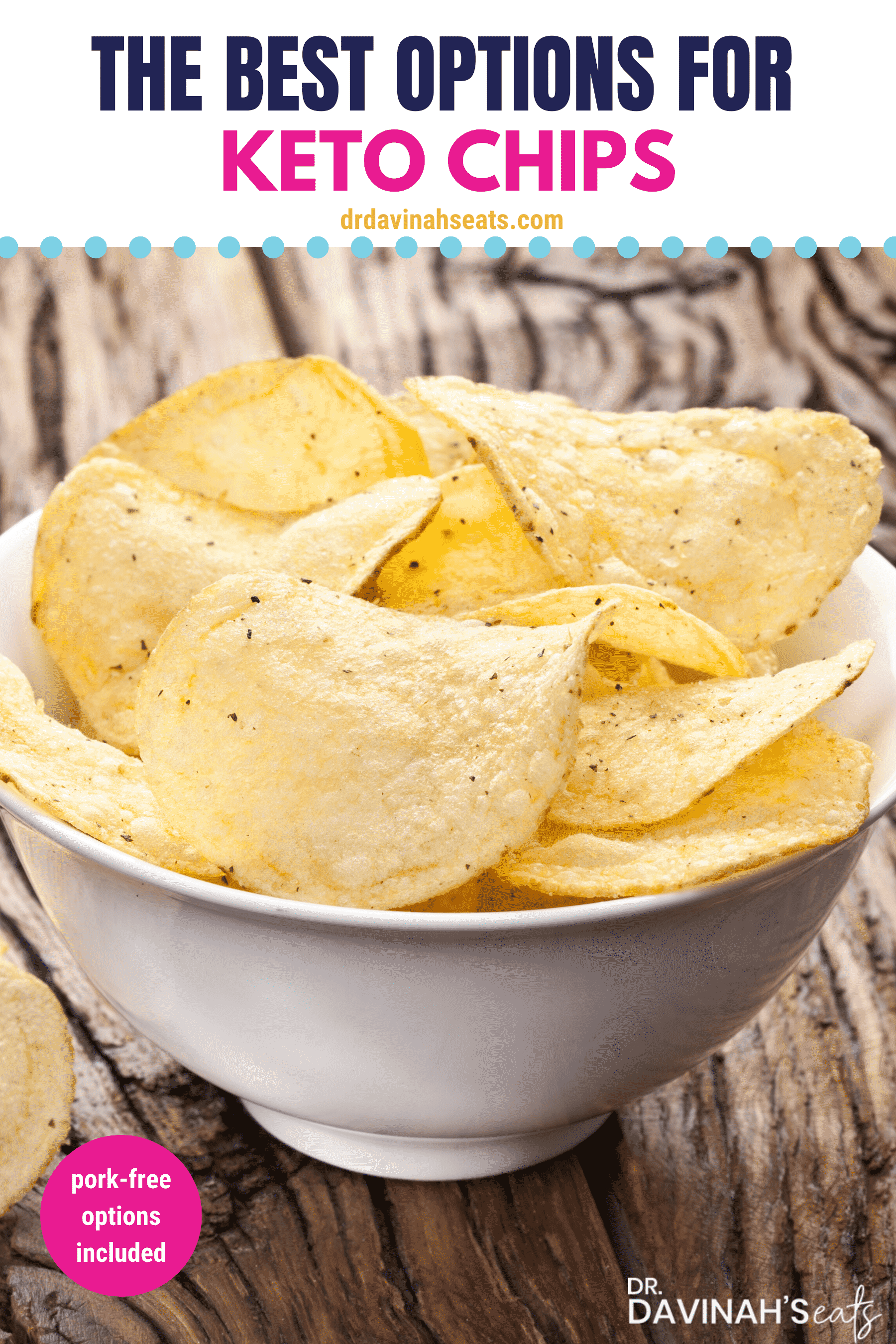 low-carb chips Pinterest Image