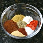 Keto taco seasoning mix in a bowl
