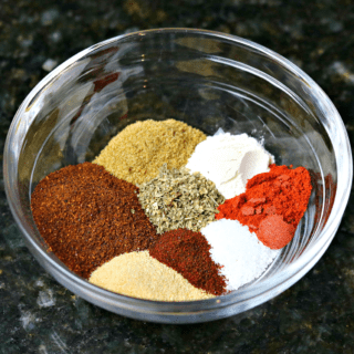 Keto taco seasoning mix in a bowl