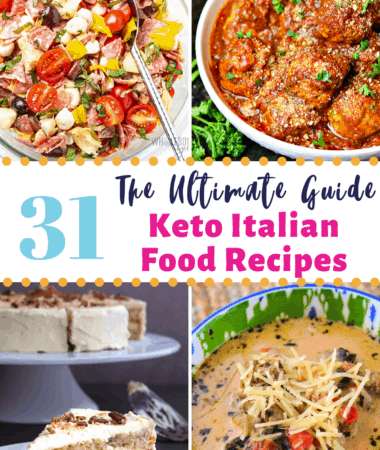 Keto Italian Food Recipes Pinterest image