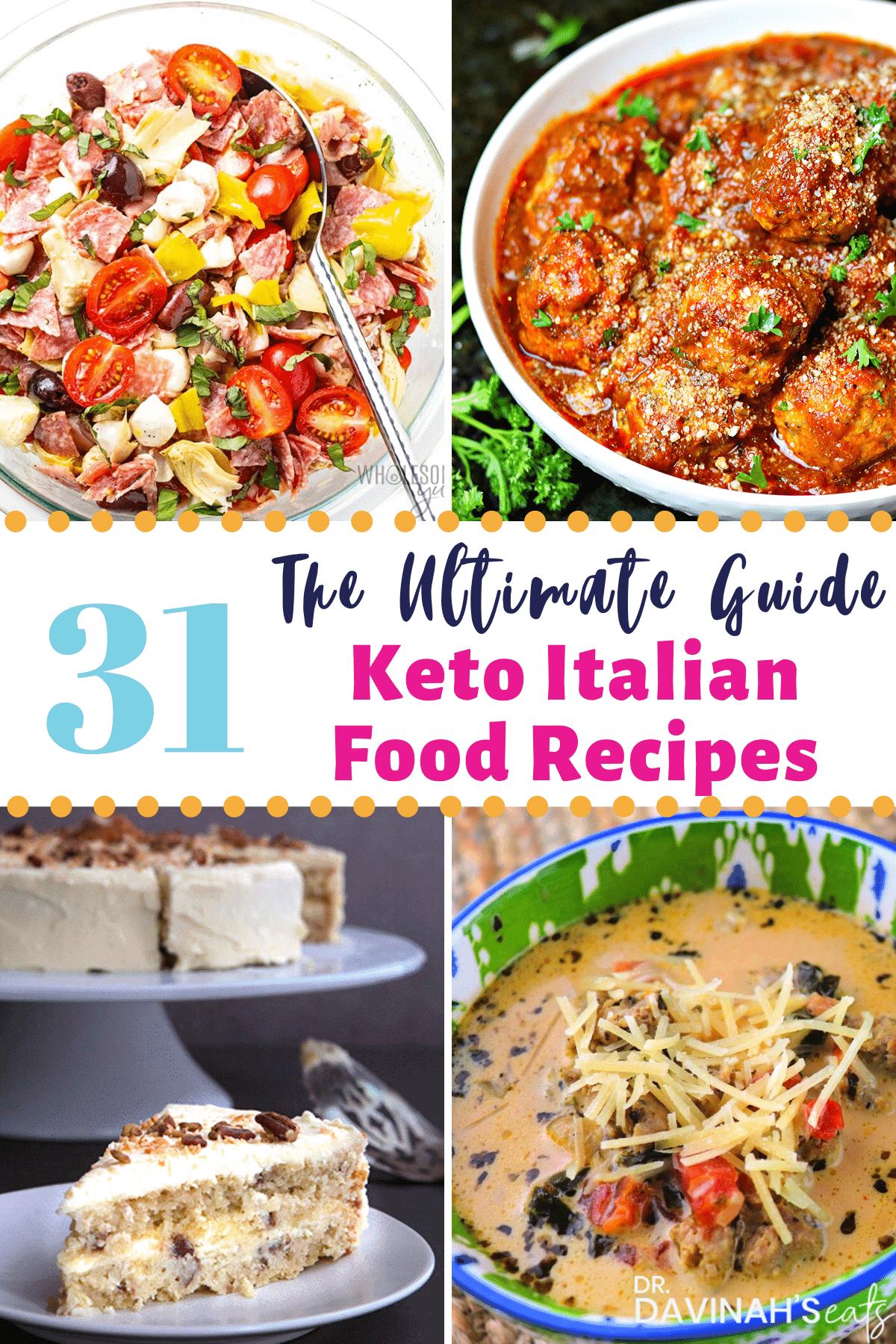 Keto Italian Food Recipes Pinterest image