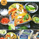 pinterest image for keto shrimp tacos recipe