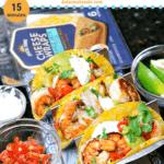 pinterest image for keto shrimp tacos