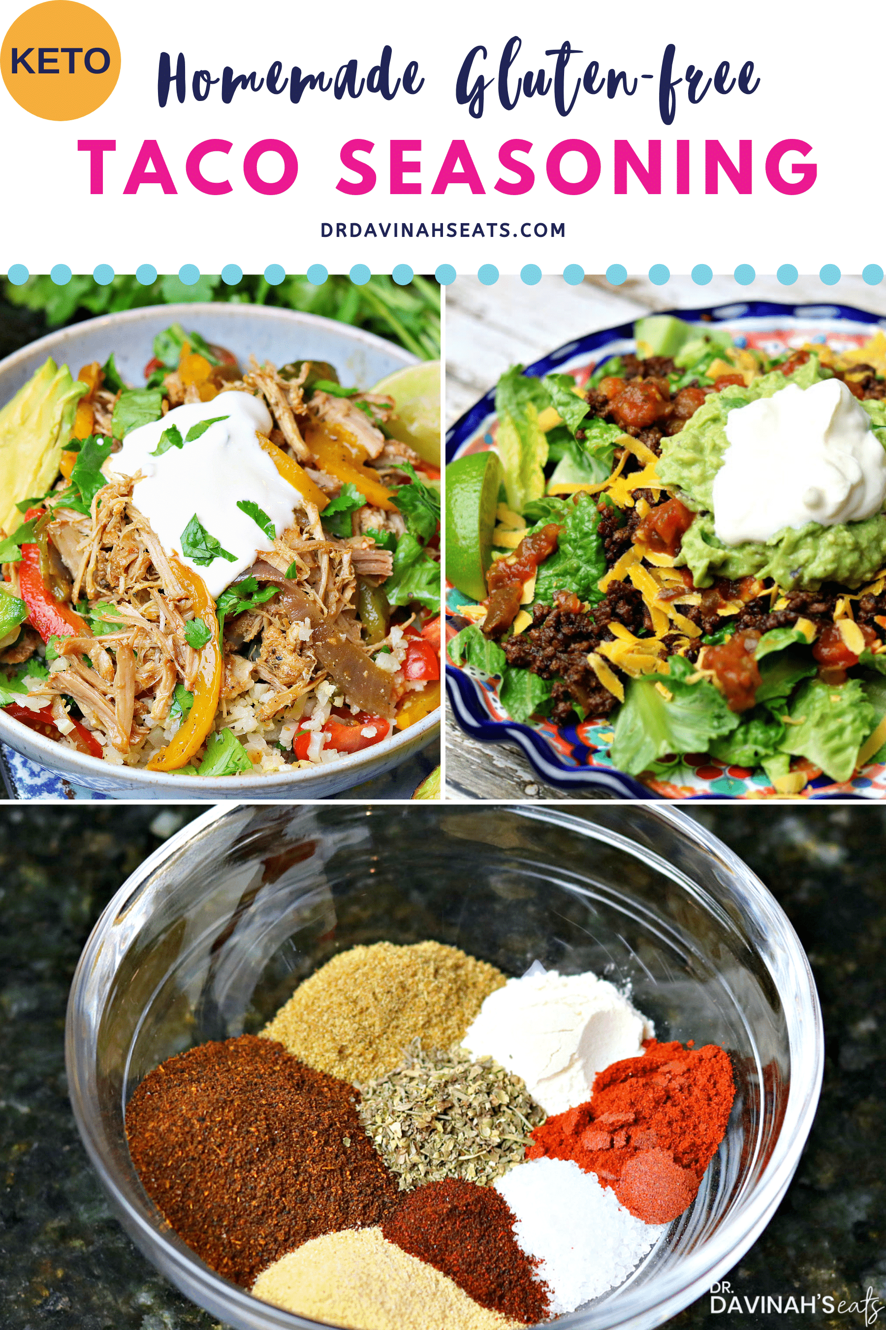 homemade taco seasoning Pinterest image