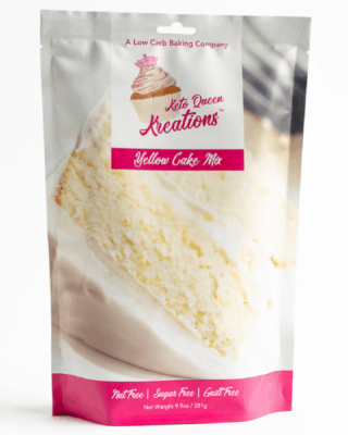 One package of Keto Queen Kreations Yellow Cake Mix