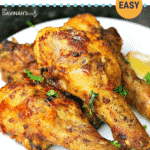 Pinterest image for air fryer chicken legs