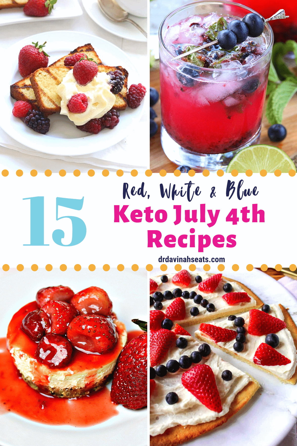 pinterest image for Keto July 4 recipes