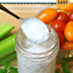 pinterest image for Homemade Low Carb Keto Ranch Dressing Recipe