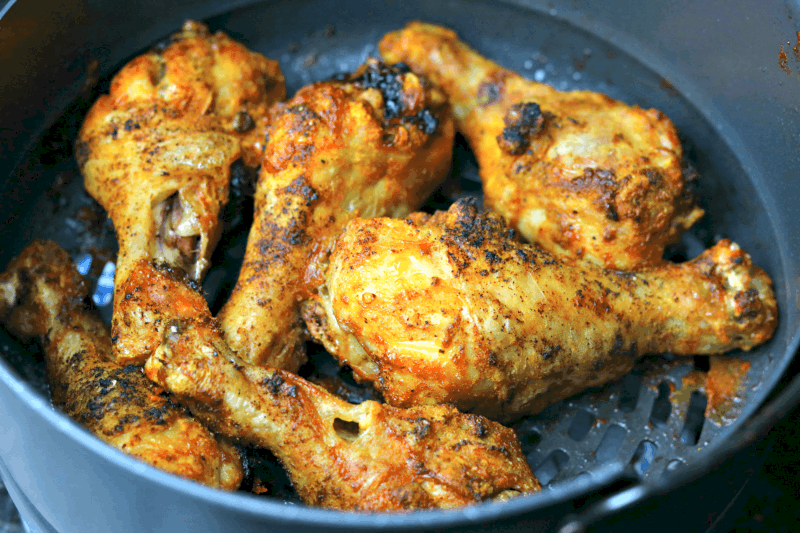 chicken legs in the Ninja Foodi cooking pot