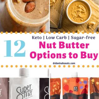 Keto Nut butter options Pinterest image