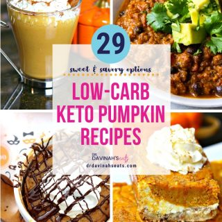 keto pumpkin recipes pinterest image that says 29 low-carb keto pumpkin recipes